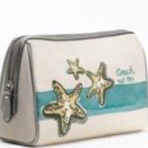 NWT Coach limited edition Starfish cosmetics bag